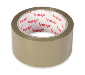 SOLVENT ADHESIVE TAPE VIBAC- BROWN 48mm x 66yd
