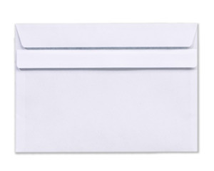 WHITE PRESTIGE ENVELOPE DL HK NAVY LINED 500 pcs