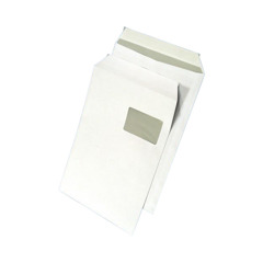 White envelope C4 HK 229x324 with strap, right window 250pcs